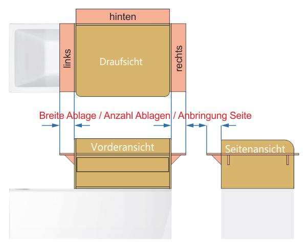 Ablage Wickelaufsatz Badewanne Holz
