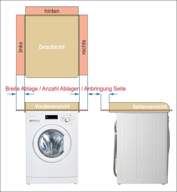 Ablage Wickelaufsatz Waschmaschine Holz