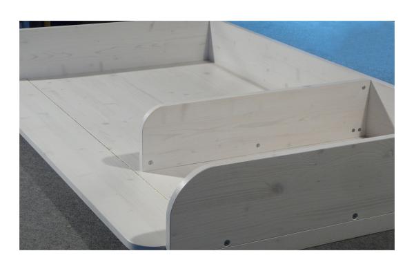 Trennbrett Wickelaufsatz Badewanne Holz