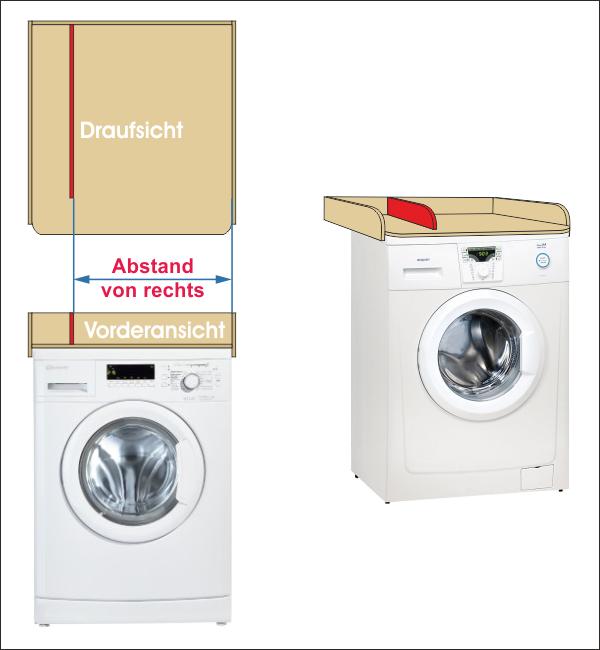 Trennbrett Wickelaufsatz Waschmaschine Holz
