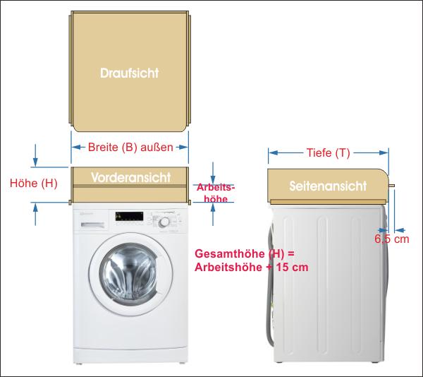 Größe Wickelaufsatz Waschmaschine Holz