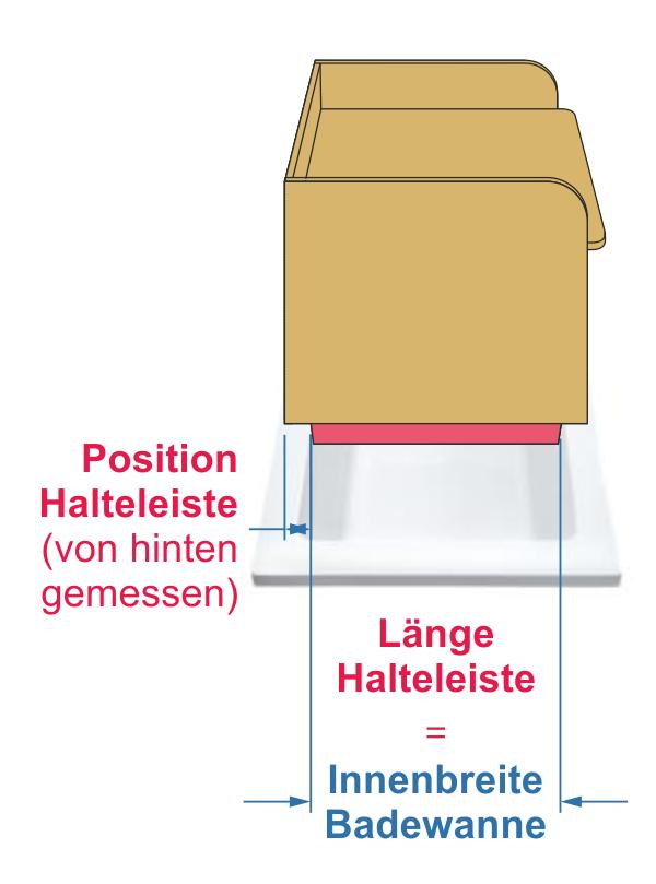 Halteleisten Wickelaufsatz Badewanne Holz
