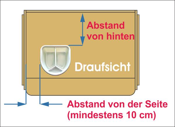 Schuessel Wickelaufsatz Tisch / Kommode Holz