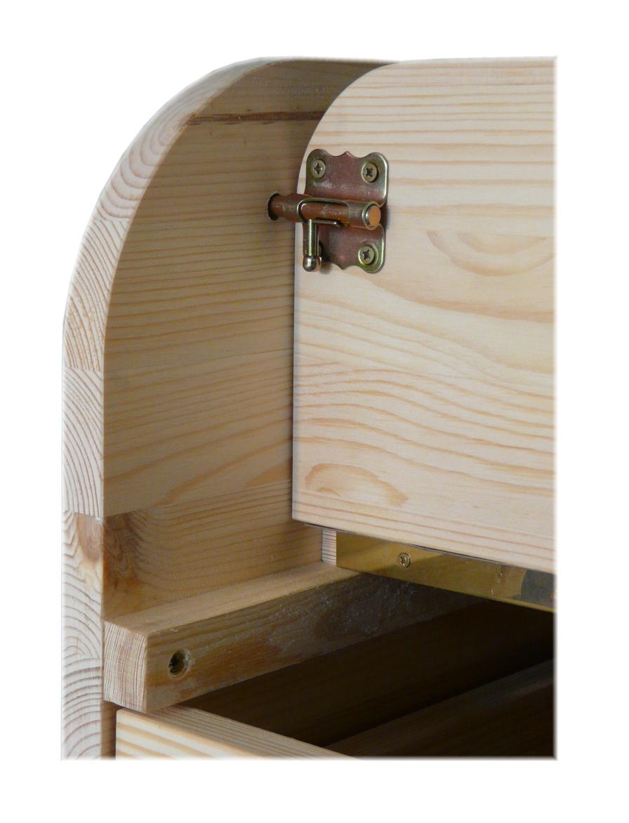 Fallschutz Wickelaufsatz Tisch / Kommode Holz