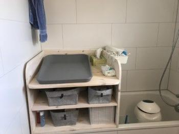 Aufsatz für Badewanne zum Wickeln in Holz