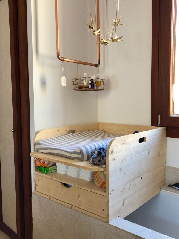 wickelaufsatz f r badewanne mit schublade und ablage oben bas m bel alternative. Black Bedroom Furniture Sets. Home Design Ideas