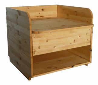 Wickelaufsatz für Badewanne mit Schublade