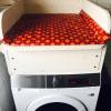 Wickelaufsatz für Waschmaschine mit Schublade