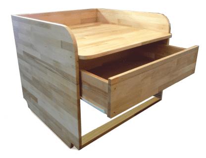 Wickelaufsatz mit Schublade aus Holz