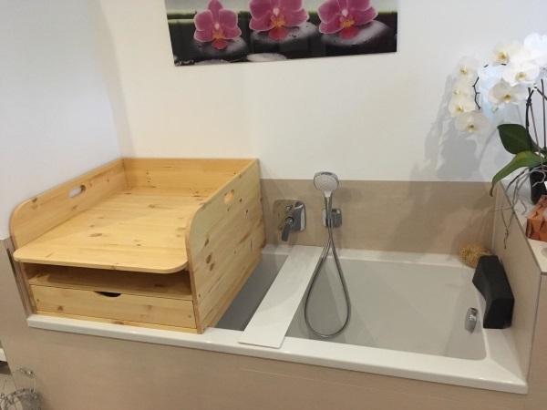 Wickelaufsatz Für Badewanne Mit Schublade Und Ablage Oben Bas