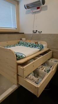 Holzwickelaufsatz Badewanne