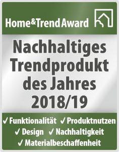 Auszeichnung Home&Trend Award 2018/19