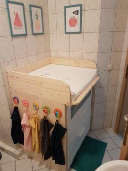 Wickelaufsatz für Waschmaschine in Naturholz