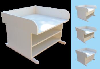 Wickelaufsatz-Badewanne-Holz