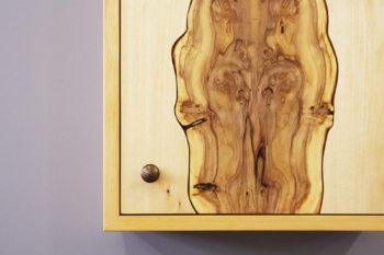 Kleiner Schrank Massivholz Holzarten Lärche Linde Eibe Pflaume