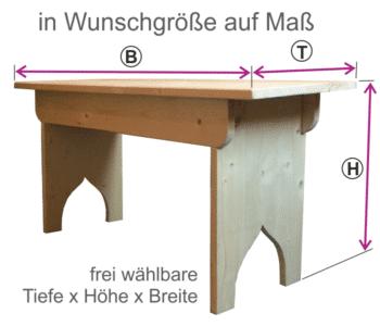 Maßanfertigung Holzbank Holztisch