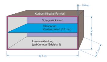 Korbus Wandvitrine