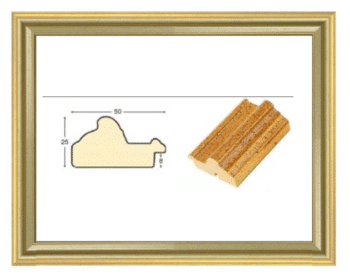 Rahmenprofil gold Wandvitrine