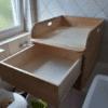 Massivholzwickelaufsatz Kiefer mit Schubkasten